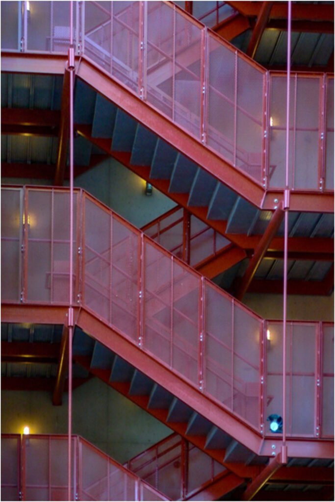 HONORABLE MENTION: Stairway, Photography by Matthew DeZee, 18in x 12in, $295 (September 2019)