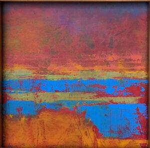 Landscape No 1, Oil on Board by Susan Tilt, 11in x 11in, $250 (October 2019)