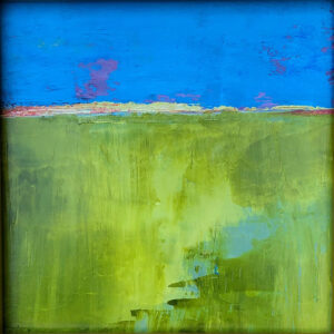 Landscape No 5, Oil on Board by Susan Tilt, 11in x 11in, $250 (October 2019)