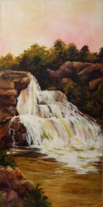 Blackwater Falls, Acrylic by Kathleen Willingham, 30in x 15in, $525 (November 2019)