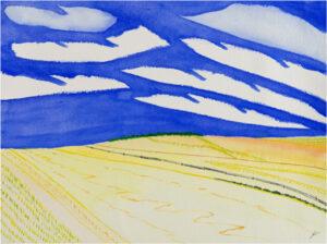 Prairie Road, North Dakota, Watercolor by Bro Halff (November 2013)