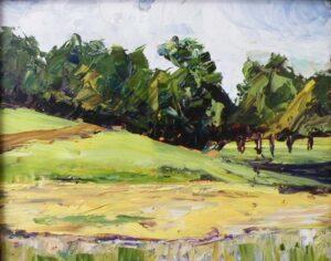 Vermont Vista, Oil on Board by Christina Weaver Smith (November 2013)