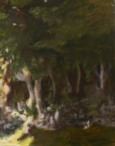 Cornwall Forest, Acrylic by Christine E Long  (Dec. 2013-Jan. 2014)