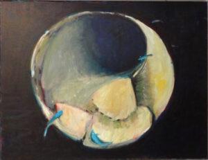 Fibonacci's Trace, Oil by Marcia Chaves, 20in x 20in, $425 (November 2019)