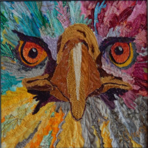 Mini Eagle Eyes, Textile by Grace Errea (Dec. 2013-Jan. 2014)