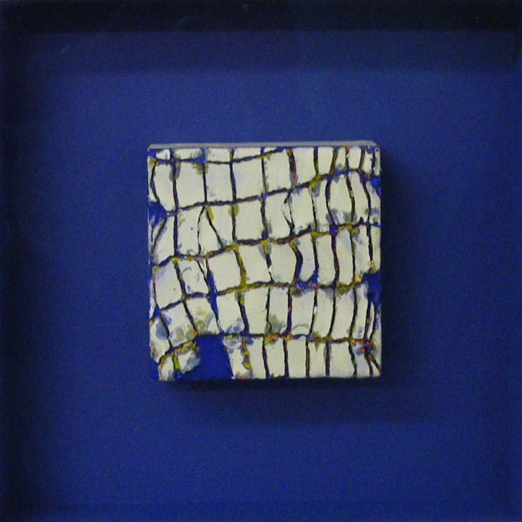 THIRD PLACE: Delta Blue, Encaustic by Johanna Edmondson (November 2013)