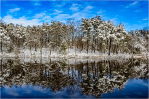Lake Tighlman in Winter, Photography by Addison Likins, 20in x 30in, $425 (November 2019)