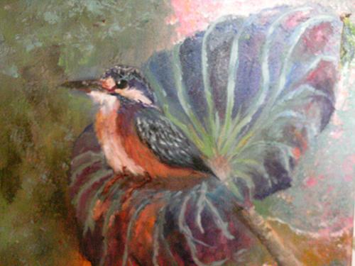 Kingfisher Perch by Nancy Wing (MG: January 2016)