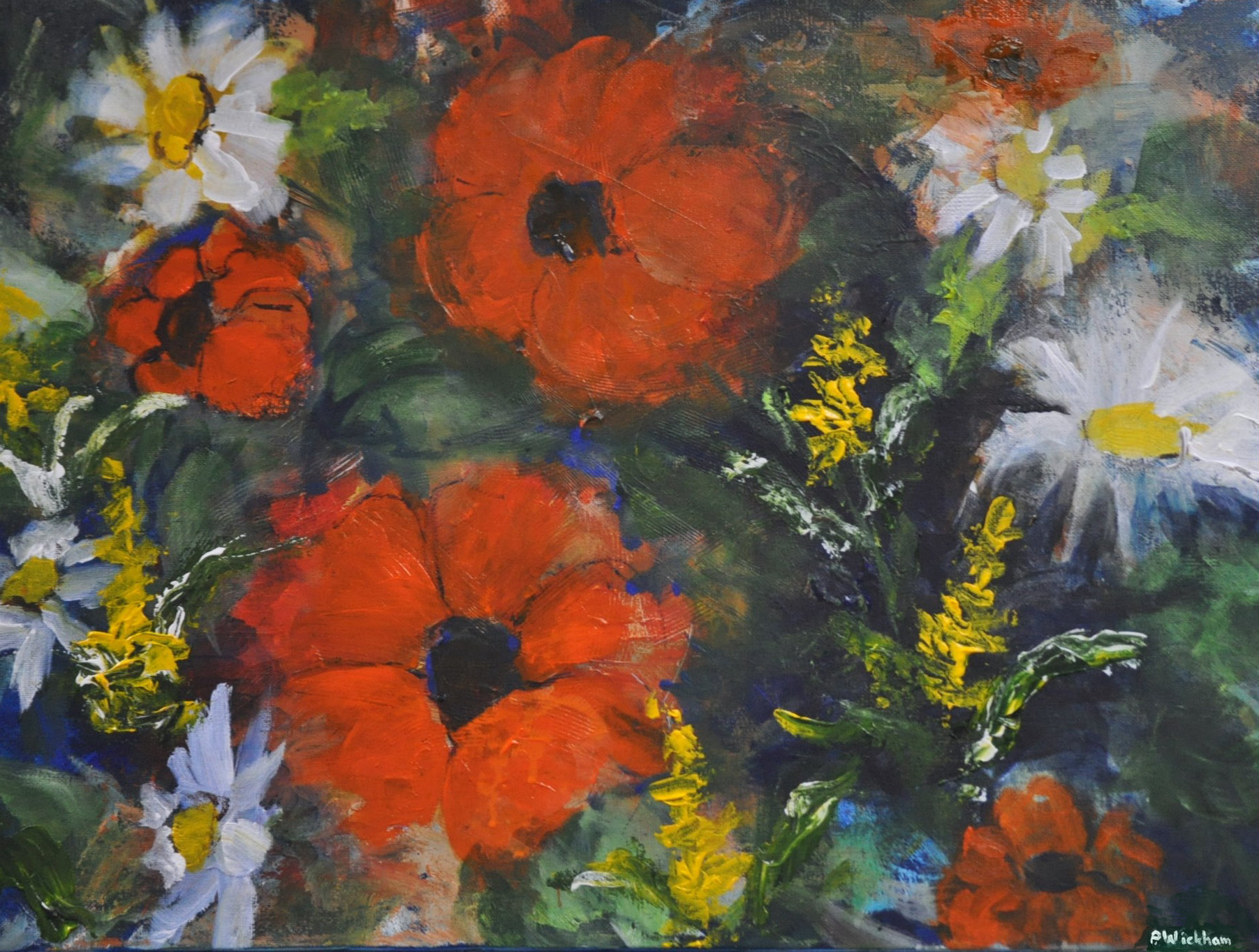 Poppies and Daisies by Peggy Wickham (MG: January 2016)