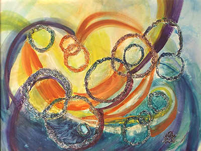 Space Rings by Rita Rose and Rae Rose (MG: September 2014)