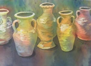 Potted, watercolor by Sandy Staley (November 2013)