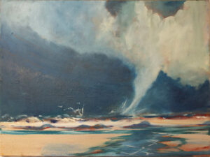 There She Blows, Oil by Marcia Chaves, 18in x 24in, $450 (November 2019)