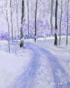 Snowy Drive, Oil on Panel by Tom Smagala (Dec. 2013-Jan. 2014)