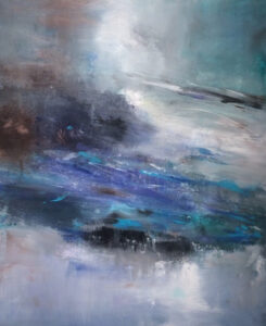 Torrent, Acrylic by Barbara Taylor Hall, 22in x 18in, $250 (November 2019)