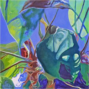 Green Carnival, Oil by Katherine Green, 20in x 20in, NFS (Dec. 2019 - Jan. 2020)
