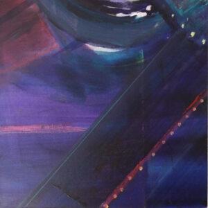 Nightlights, Mixed Media by Barbara Taylor Hall, 10in x 10in, $150 (Dec. 2019 - Jan. 2020)