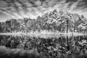 Lake Tighlman in Winter, Photography by Additon Likins, 12in x 18in, $280 (February 2020)