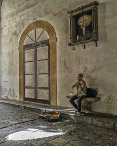 Sicily Violinist, Photography by Penny A. Parrish, 20in x 16in, $175 (February 2020)
