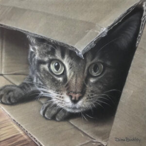 Artemis in a Square Box, Colored Pencil by Dina Buckley, 10in x 10in, NFS (March 2020)
