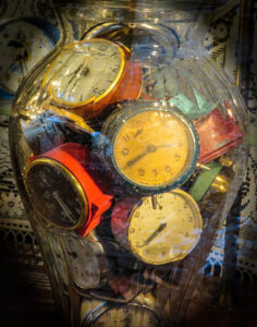 Clock Faces, Photography by Penny A. Parrish, 14in x 11in, $125 (March 2020)