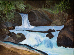 Cool Waters, Acrylic by Taylor Cullar, 18in x 24in, $100 (Feb-May 2020 CBTC)
