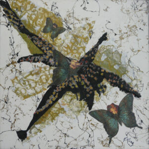 Fanciful Flies, Mixed Media by Kathleen King Mullins, 12in x 12in, $85 (March 2020)