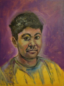 Nasir, Oil on Canvas by Ayesha Khan-Bolt, 24in x 18in, NFS (March 2020)