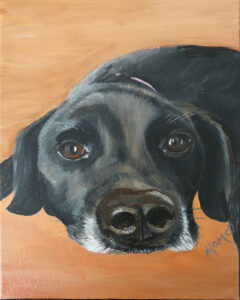 Olive, Acrylic by Minja Gaines, 10in x 8in, NFS (March 2020)