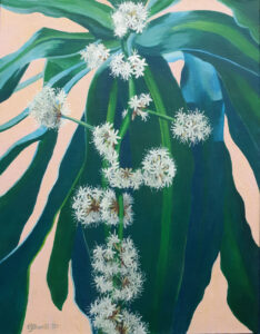 Pungent Profusion, Acrylic by Charlotte Burrill, 18in x 14in, $195 (Feb-May 2020 CBTC)