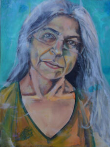 Siddika, Oil & Resin on Canvas by Ayesha Khan-Bolt, 24in x 18in, NFS (March 2020)