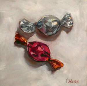 Sweets, Oil by Christine Dixon, 6in x 6in, $150 (Feb-May 2020 CBTC)
